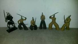 Japanese samurai worrier orniments figures