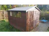 Large Shed. Used. Good condition. Dismantling needed. Pick up only