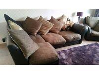 Corner sofa + chair +futon