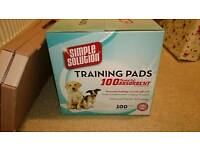 Simple Solution Training Pads x 100 with Pad Holder
