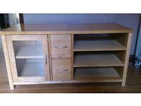 Solid Oak Wood TV Unit/ Cabinet