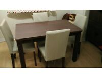 ARGOS DINING TABLE+4 CHAIRS A YEAR OLD AND IN GOOD CONDITION!!!