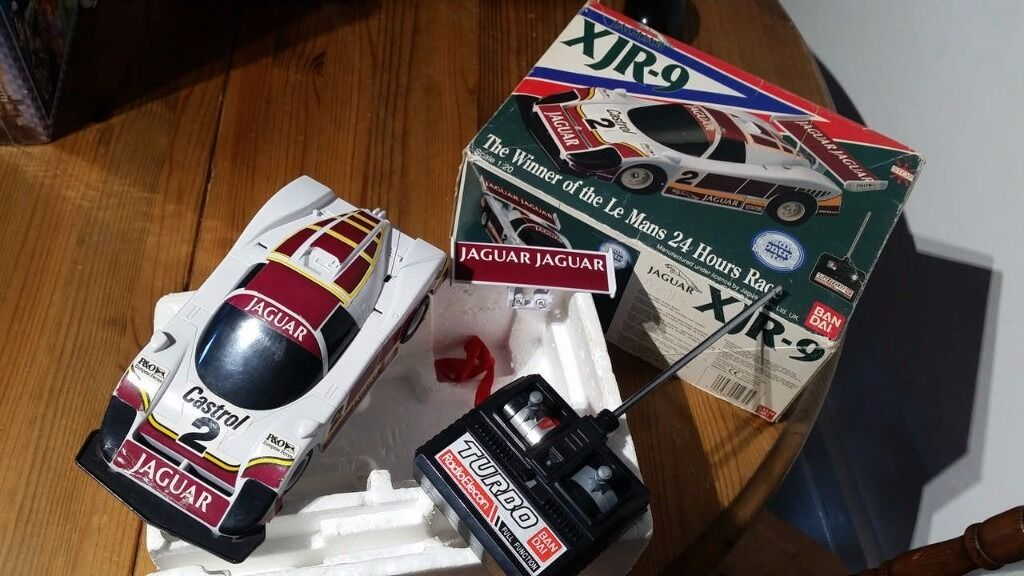 Jaguar XJR-9 Bandai RC Car. Vintage and Collectible in the box.