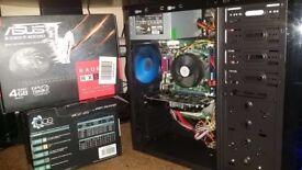 i7 Quad Core Ultra HD Gaming PC, 8GB DDR3 RAM, 500GB HDD, Wifi, Radeon RX550 4GB GDDR5, 400 watt PSU