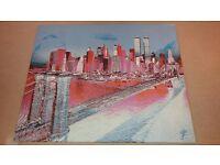 Unique & Limited Edition Photo Canvas New York Manhattan Skyline by German artist Andy Goldbaum