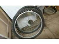 """Retro 26""""mountain bike wheels with tyres"""