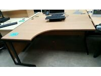 Left Hand Corner Desk - Includes 1 Cable Port Hole