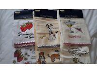 3 Packs of Tea Towels - Brand New