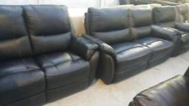Teo Real leather 3+2+1 seater sofa