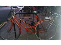 Vintage bike with lock