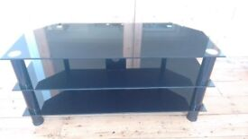 TV table to take TV, blue ray player, set top box, DVD's etc., excellent condition