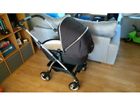 Silver Cross Wayfarer Black Travel System - Pram, Car Seat, Carrycot + Car Base