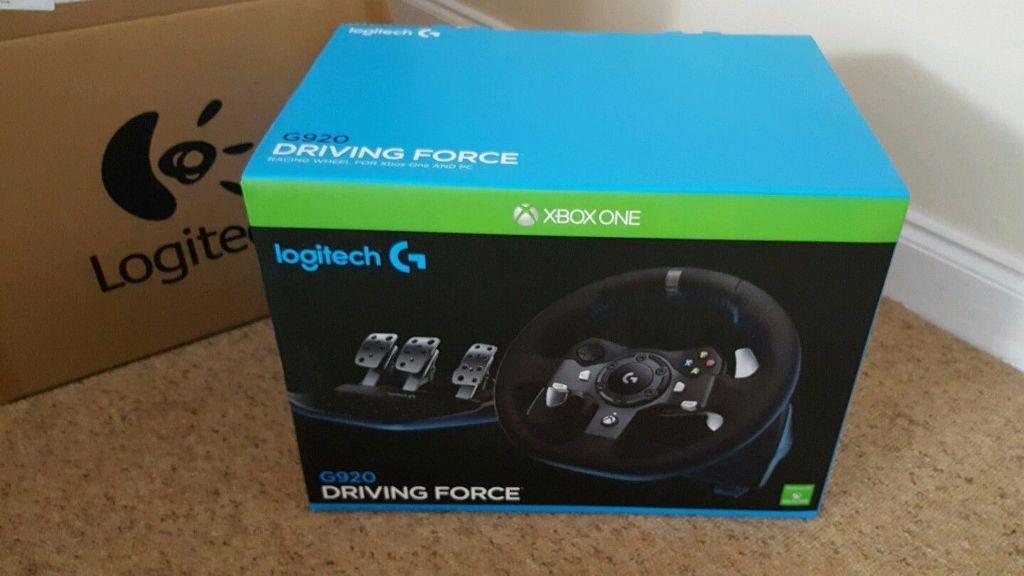 Logitech G920 Uk Plug Driving Force Racing Wheel And