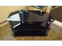 Black glass tv stand for 32inch tv