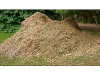 Wood chippings by the bin bag full not fire logs fuel wood fire fuel