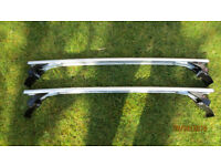 Secure Aluminium Roof Bars with lock and key for various Car models.
