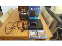 Boxed playstation 4, with black ops and GTA5, one controller excellent condition