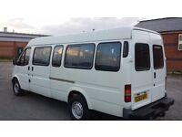 Ford transit smiley jumbo minibus van camper project 10 mths mot history