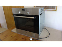 Bosch built-in single oven HBN331E0B brushed stainless steel and glass