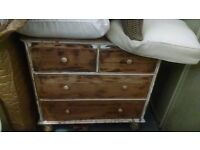 Distressed Wood Dresser Chest of Drawers