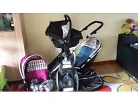 Double pram/pushchair