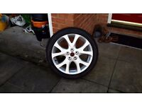 MAZDA 6 ALLOY WHEEL FITTED WITH DUNLOP S.P. 1 TYRE BOTH TYRE AND WHEEL IN VERY GOOD CONDITION.