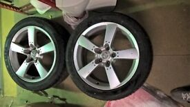 Two used wheels & tyres 245/45/R18