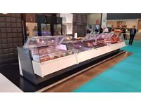 BRAND NEW SERVE OVER COUNTER MEAT DISPLAY WHITE CHILLER FUTURA- many sizes available