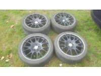 "18"" 5x100 BBS CH staggered style alloy wheels golf polo gti VW Leon bora a3 GTD"