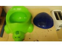 Turtle potty with lid