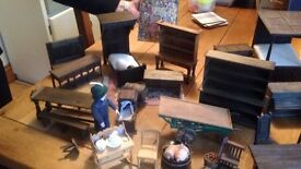 Collectible 1/12th scale Tudor dolls house furniture and accessories. Not for children.