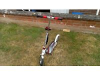 Kick scooter adult/teens Hudora Big wheel air 205 +carry bag mint condition air tyres foldable