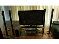 "Samsung 42"" and LG home theatre surround system"