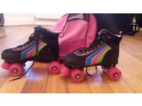 Quad Roller Skates with very handy bag