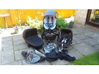 Quinny Moodd Pushchair Travel System, inc Quinny Carrycot, Maxi Cosi Pebble Car Seat + much more