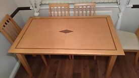 Dining Table approx 150x90cm. Good condition