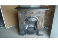 victorian original cast iron fireplace