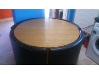 Spacious table and 4 chairs
