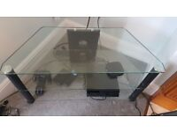 Glass tv stand/ tv unit/ tv table