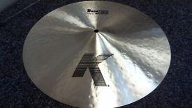 "Zildjian 16"" K Dark Crash Thin Cymbal (Immaculate Condition,Free P+P)"