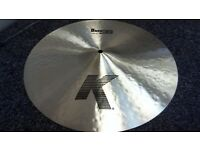"Zildjian 16"" K Dark Crash Thin Cymbal (Immaculate Condition,Free P+P)"