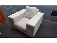 Square Leather Armchair. FREE delivery in Derby.