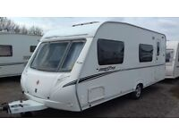 6 BERTH 2007 ABBEY FREESTYLE 560. WITH BUNKS. MOTOR MOVER. AWNING. ALL ACCESSORIES FOR HOLS.