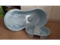 Blue baby bath set