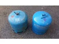 2 Camping Gas Cylinders 2.75Kg 907 size with some gas inside