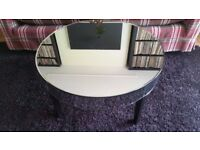 Round coffee table / side table - mirror