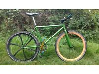 Funked Up Singlespeed Bicycle, flip flop back wheel, 17t fixed/18t freewheel. Selection Bars & Tyres