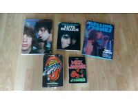 5 x rolling stones mick jagger keith richards books