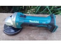 Professional Makita 18v Battery Grinder LXT BGA252z Body Only! FULLY WORKING!