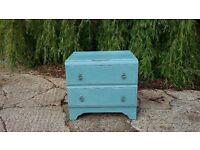 Vintage Painted Shabby Chic Chest of Drawers LEWES COLLECTION bedroom blue furniture storage child's